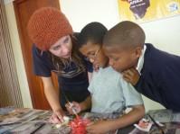 Minke Guttzeit bei der Arbeit in Südafrika